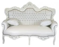 2er sofa weiãÿ casa padrino barock 2er sofa master weiß lederoptik weiß mit