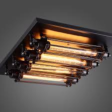 Edison Bulb Light Fixtures Loft Retro T30 Edison Bulb Ceiling Light Fixture Wrought Iron