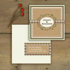 rustic pocket wedding invitations knots and kisses wedding stationery rustic vintage christmas