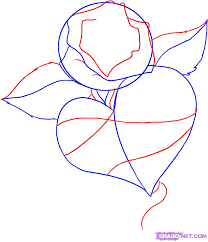 how to draw a rose out of hearts how to