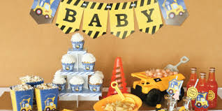 construction baby shower construction truck baby shower theme bigdotofhappiness