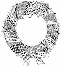 christmas coloring printable wreath christmas decorating