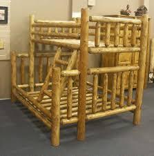 Twin Over Full Cedar Log Bunk Bed Rustic Indoor  Outdoor Furniture - Log bunk beds