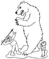 polar bear coloring animals town animals color sheet
