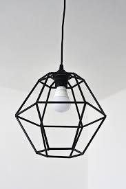 diy geometric pendant light fixture made from straws decor hacks