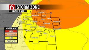 Severe Weather Map Severe Weather Tornado Warnings Threaten Northeastern Ok
