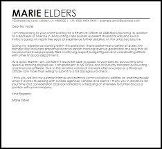 Letter To Submit Resume Revenue Officer Cover Letter Sample Livecareer
