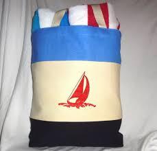 nautical tote back to school nautical themed tote bag bag white b