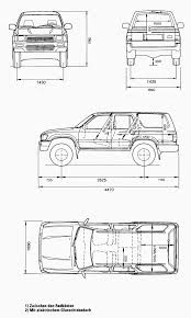 surf car clipart car blueprints 1991 toyota hilux surf 4 runner v6 suv blueprint