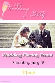 Wedding Poster Template Customizable Design Templates For Wedding Planner Postermywall