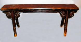 provincial lacquered elmwood long bench 18thc