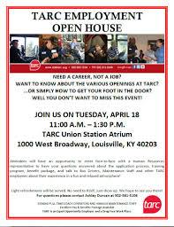 Human Resources Representative Tarc To Host Employment Open House April 18 Tarc