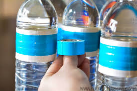 Decorate Water Bottle Duct Tape Water Bottles Give Football Parties Extra Team Spirit