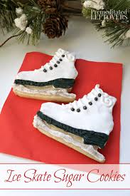 how to make and decorate ice skate sugar cookies