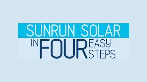 sunrun logo sunrun solar in four easy steps
