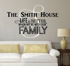 family name monogram decal by decor designs decals personalized fam
