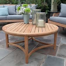 Round Teak Table And Chairs Teak Outdoor Tables Berwick Round Coffee Table Country Casual