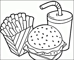 coloring pages of food free coloring pages for and adults printable fast food
