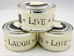 tin candles live laugh love uk wedding favours