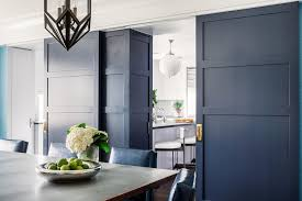 Colored Interior Doors Blue Interior Doors With Brass Hardware Contemporary Kitchen