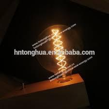 Filament Bulb Desk Lamp Decorative Carbon Filament G125 Globe Light Bulb E27 Wood Desk