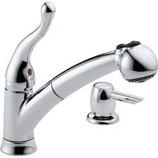 Glacier Bay Kitchen Faucet Parts by Nickel Delta Pull Out Kitchen Faucet Centerset Two Handle Down