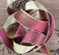 burgundy wired ribbon gold burgundy wired ribbon decoration wedding decoration