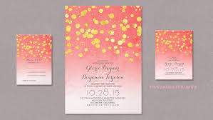 coral wedding invitations read more modern soft pink and coral wedding invitation with