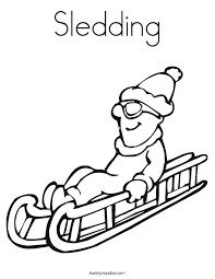 sledding coloring twisty noodle