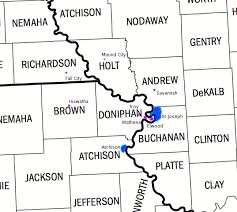 map of counties in kansas kansas and missouri county map missouri map