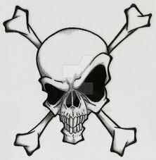 simple evil tattoo skull and crossbones by ashes360 deviantart com on deviantart