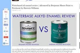 benjamin moore advance vs sherwin williams pro classic by