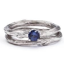 sapphire wedding ring moonlight serenade sapphire bridal ring set barbara