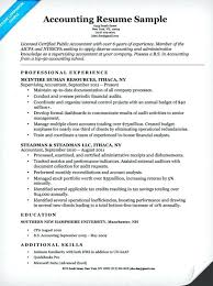 sample resume for accounting student accounting resume example