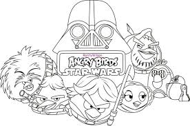coloring page star wars birds star wars coloring pages