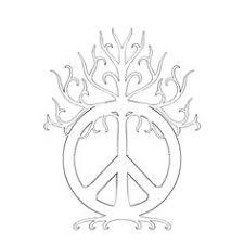 peace sign tree tats and tatting