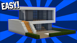 minecraft easy modern house tutorial 1 easy pc pe xbox