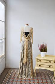 backless lace prom dress long sleeve bridesmaid gown bohemian