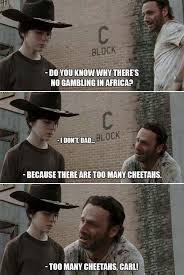 Carl Walking Dead Meme - 31 of the best dad jokes told by walking dead s rick grimes thechive