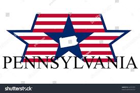 Pennsylvania State Map by Pennsylvania State Map Flag Name Stock Vector 94127293 Shutterstock