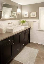 light walls dark woodwork bathroom traditional with gray walls