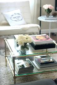Rectangular Coffee Table Living Room - how to style a coffee table erika brechtel