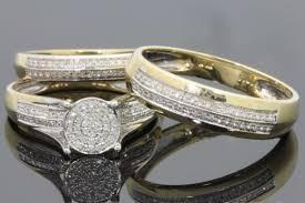 cheap wedding sets engagement ring sets carat diamond bridal set gold rings mainwh