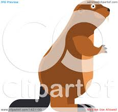 clipart of a cartoon beaver royalty free vector illustration by