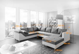 sofa grau weiãÿ sam sofa grau weiß wohnlandschaft phil 243 x 315 x 183 cm