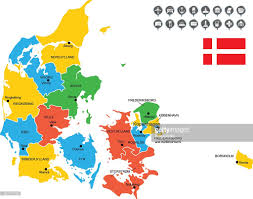 detailed vector map of denmark vector art getty images