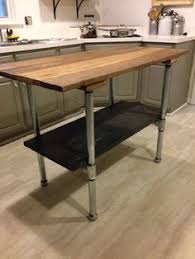 Kitchen Island Made From Reclaimed Wood Kitchen Island Industrial Butcher Block Style Reclaimed Wood And