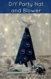 easy holiday crafts new year u0027s eve diy party hat u0026 blower diy