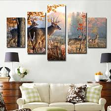 deer home decor amazon com juyi art hd painting canvas prints for home decoration