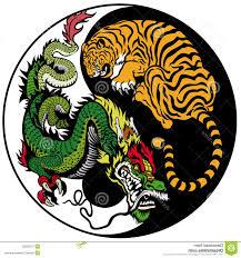 tiger yin yang tiger and yin yang symbol stock images